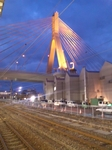 青森駅からの夕景